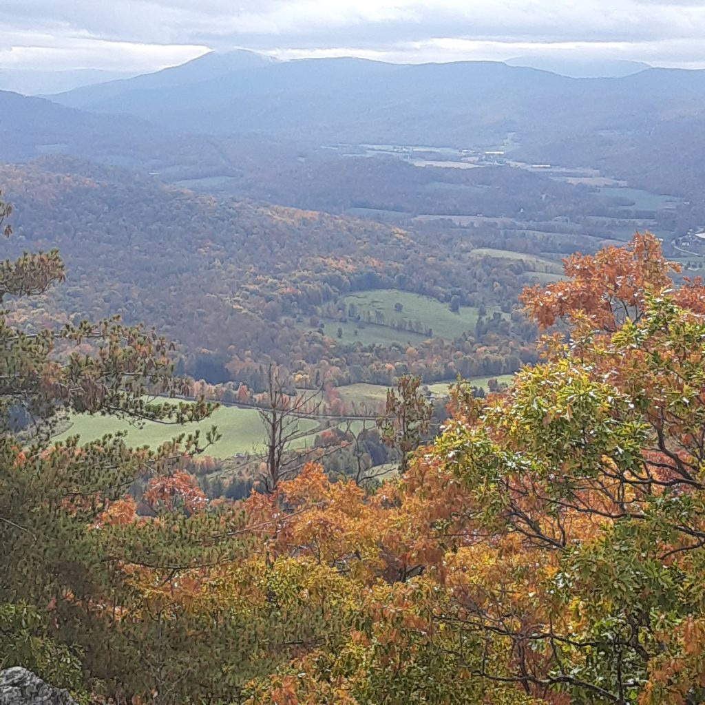 View from Haystack Mountain in autumn