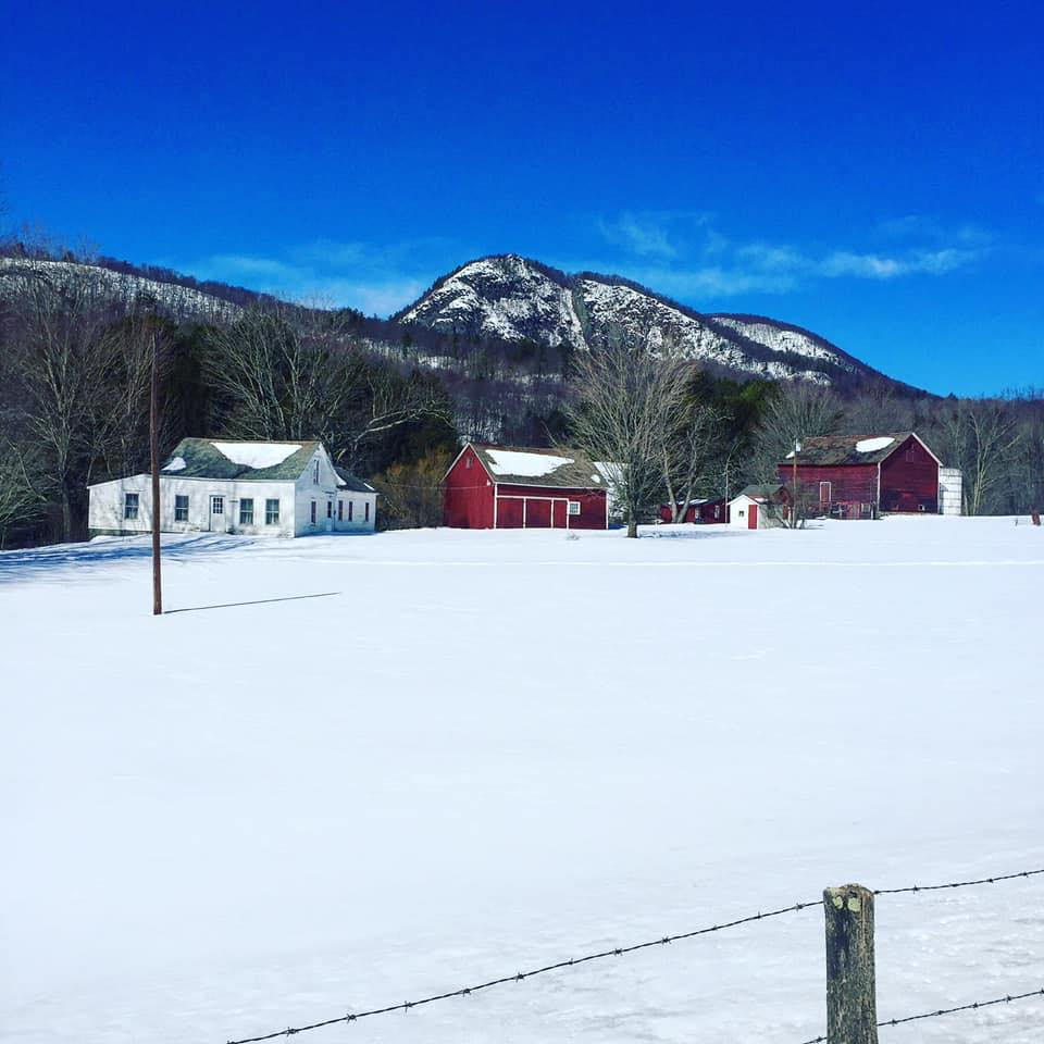 View of Pawlet farm in winter